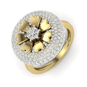 Malini Diamonds Flower Shape Designer Ring