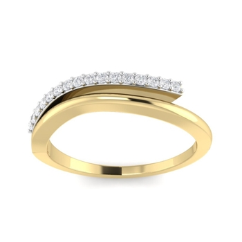 Real Natural Diamond Studed Wedding Eternity Ring For Women