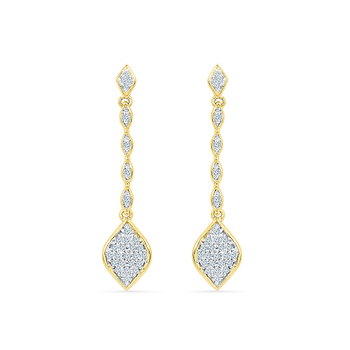 Radiant Bay's Glam Drop Diamond Danglers
