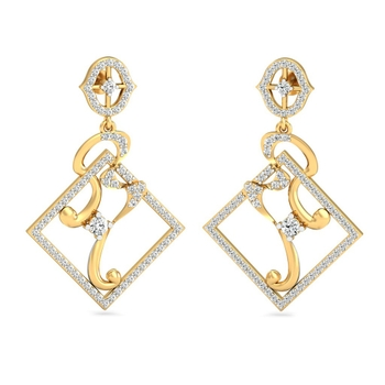 Sarvada Jewels' The Delna Square Earrings