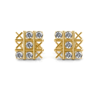 Sarvada Jewels' The CrissCross Diamond Earrings