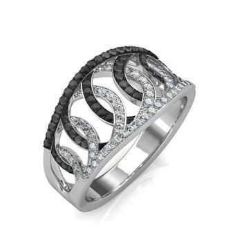 Sarvada Jewels' The Majestic Black Diamond Ring