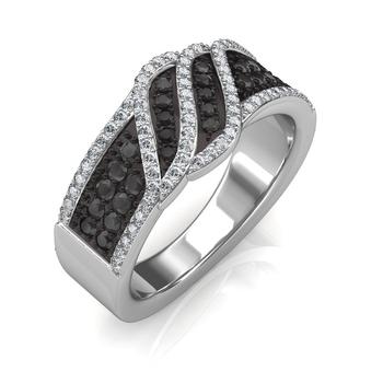 Sarvada Jewels' The Imperia Black Diamond Ring