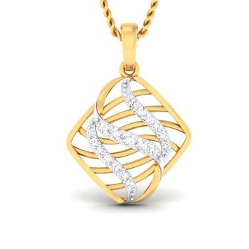 Sarvada Jewels' The Swirl Square Pendant