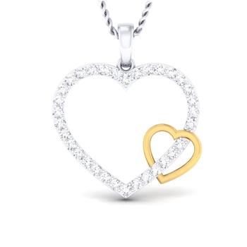 Sarvada Jewels' The Interlinked Heart Pendant
