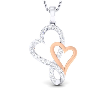 Sarvada Jewels' The Stylish Heart Pendant
