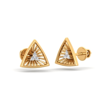 Sarvada Jewels' The Nova Triangle Earrings