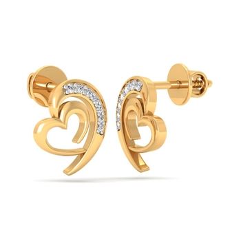 Sarvada Jewels' The Ria Heart Earrings