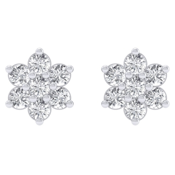 Sarvada Jewels' The Diamond Cluster Earrings
