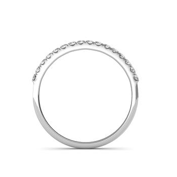 Platinum Classic Half Eternity Ring - Micro Pave