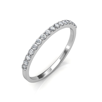 Sarvada Jewels' The Classic Wedding Band - White