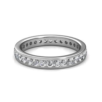 Platinum Channel Set Diamond Full Eternity Ring - 2 cent diamonds