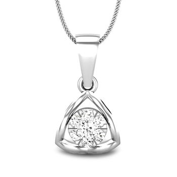 Candere by Kalyan Jewellers White Gold Astra Ziah Diamond Pendant for Women (IGI Certified)