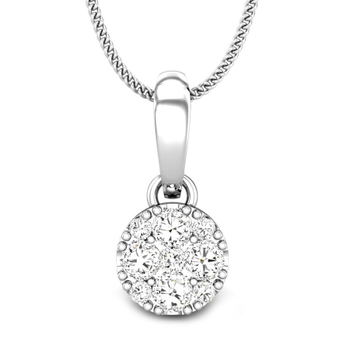 Candere by Kalyan Jewellers White Gold Eily Ziah Diamond Pendant for Women (IGI Certified)