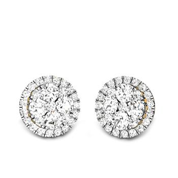 Candere by Kalyan Jewellers Yellow Gold Haylen Ziah Diamond Earrings for Women (IGI Certified Diamonds)