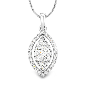 Candere by Kalyan Jewellers White Gold Kirie Ziah Diamond Pendant for Women (IGI Certified)