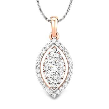 Candere by Kalyan Jewellers Rose Gold Kirie Ziah Diamond Pendant for Women (IGI Certified)