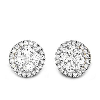 Candere by Kalyan Jewellers Yellow Gold Izarra Ziah Diamond Earrings for Women (IGI Certified Diamonds)
