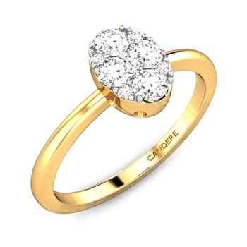 Candere By Kalyan Jewellers 14k (585) BIS Hallmark Yellow Gold Zuhra Ziah Diamond Ring (IGI Certified)