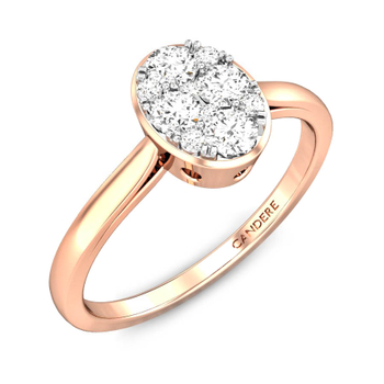 Candere By Kalyan Jewellers 14k (585) BIS Hallmark Yellow Gold Meira Ziah Diamond Ring (IGI Certified)