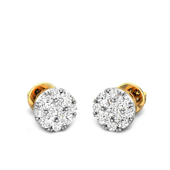 Candere by Kalyan Jewellers Yellow Gold Lucrecia Ziah Diamond Earrings for Women (IGI Certified Diamonds)
