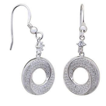Silver Shine 92.5 Streling Silver Starling Silver Round Drop Hanging Earring For Women & Girls