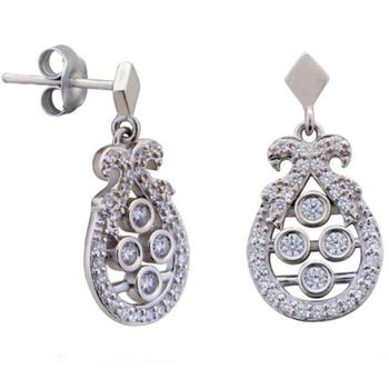 Silver Shine 92.5 Streling Silver Delicate Diamond Stud Earring For Women & Girls