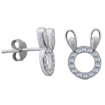 Silver Shine 92.5 Streling Silver Micky Design Silver Earring For Women & Girls