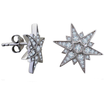 Silver Shine 92.5 Streling Silver Diamond Star Stud Earring In Silver Earring For Women & Girls