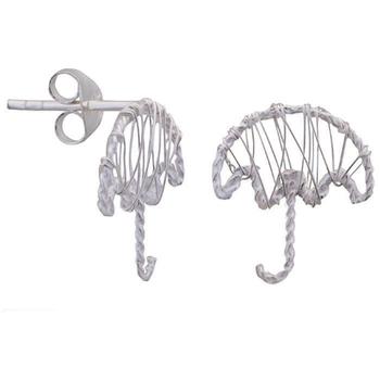 Silver Shine 92.5 Streling Silver Stud Umbrella Silver Earring For Women & Girls
