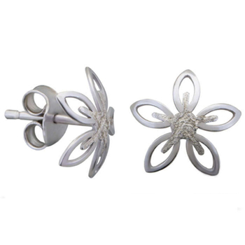 Silver Shine 92.5 Streling Silver Beautiful Flower  Silver Earring For Women & Girls