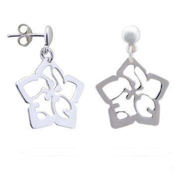 Silver Shine 92.5 Streling Silver Silver Flower Earring For Women & Girls