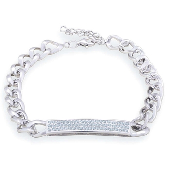 Silver Shine 92.5 Streling Silver Beautiful Solid  Silver Bracelet for Women And Girls