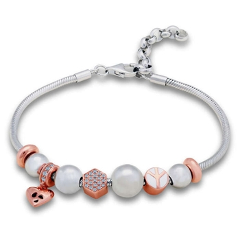 Silver Shine 92.5 Streling Silver Bracelet With Heart Locket for Women And Girls