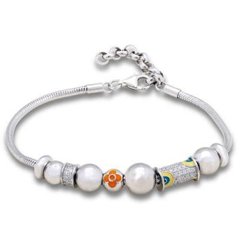 Silver Shine 92.5 Streling Silver Silver Balls Lovely Bracelet for Women And Girls
