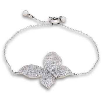 Silver Shine 92.5 Streling Silver Lovely Butterfly Friendship Bracelet for Women And Girls