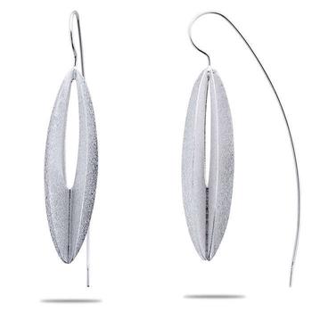 Silver Shine 92.5 Sterling Silver Wing Fish Hook Earring for Women & Girls
