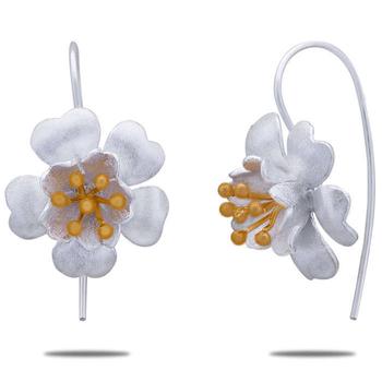 Silver Shine 92.5 Sterling Cherry Flower Silver Earring for Women & Girls