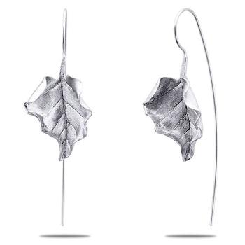 Silver Shine 92.5 Sterling Leaf Silver Drop Earringfor Women & Girls