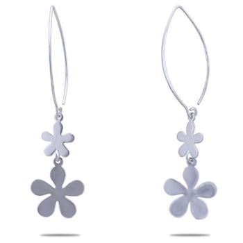 Silver Shine 92.5 Sterling Fish Hook Flower Earring for Women & Girls