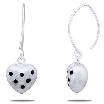 Silver Shine 92.5 Sterling Heart Shap Drop Earring for Women & Girls