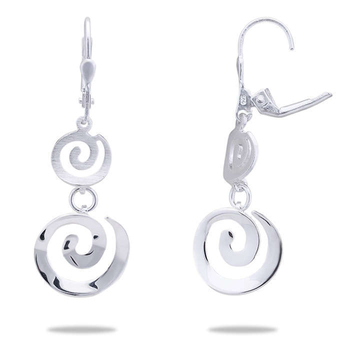 Silver Shine 92.5 Sterling Concentric Circle Silver Earring for Women & Girls