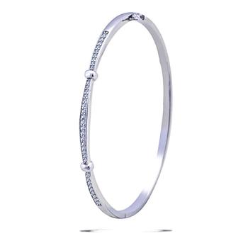 Silver Shine 92.5 Sterling Silver New Look Delicate Bracelet for Women & Girls