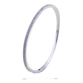Silver Shine 92.5 Sterling SilverSimple Look  Silver Bracelet for Women & Girls