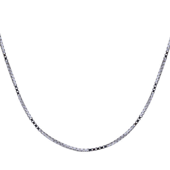Silver Shine 92.5 Sterling Silver Delicate Box Silver Chain for Women & Girls