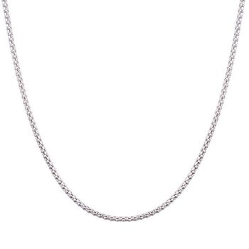 Silver Shine 92.5 Sterling Silver Simple Silver Necklace for Women & Girls