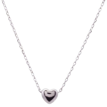 Silver Shine 92.5 Sterling SilverSolid Silver Heart  Necklace for Women & Girls