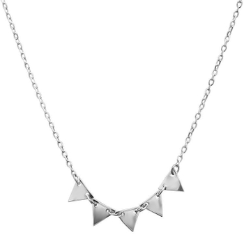 Silver Shine 92.5 Sterling SilverNew Five Triangle Sterling Silver  Necklace for Women & Girls