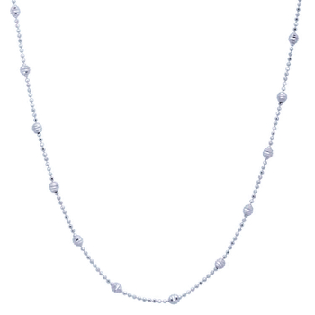 Silver Shine 92.5 Sterling SilverSmall Vertical Ball  Necklace for Women & Girls