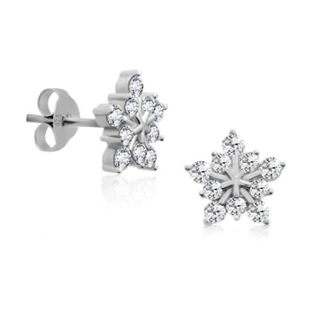Silver Shine 92.5 Sterling Silver Big Star Earring For Women & Girls